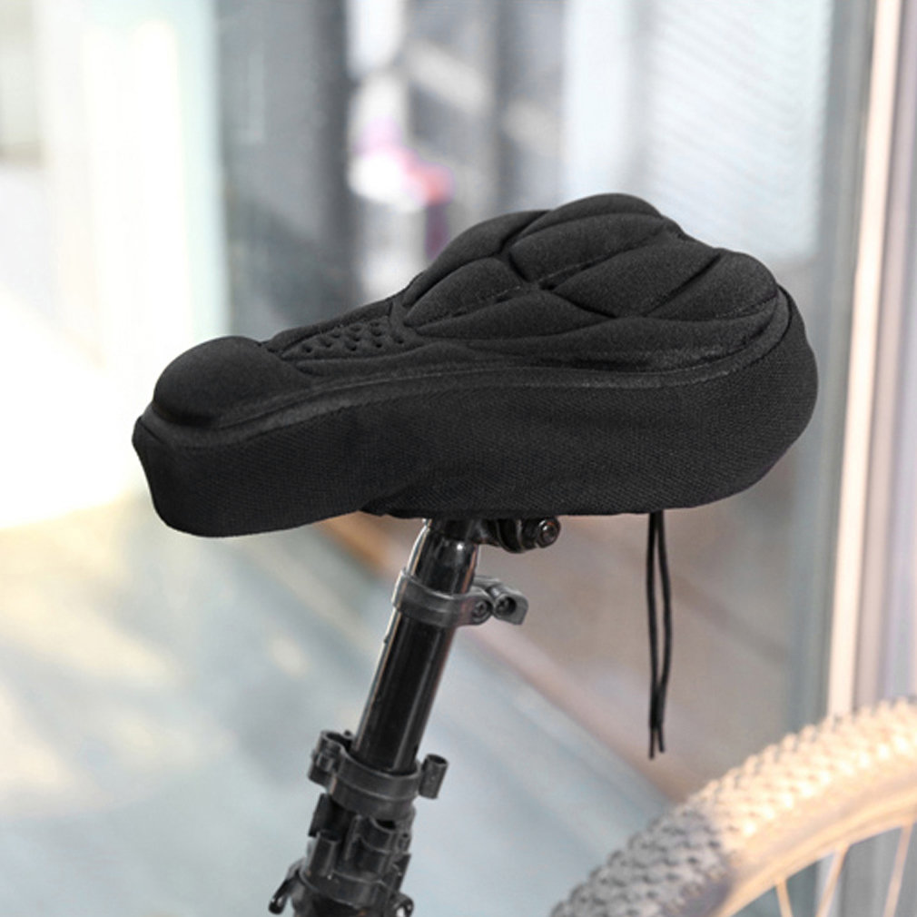 Thick Cycling Bicycle EVA Pad Seat Saddle Cover Soft Bike Cushion Pad With Anti-slipping Lining With Adjustable Drawstring