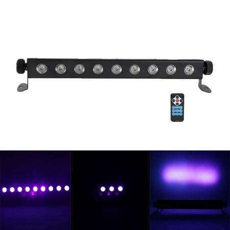 UBesGoo UV LED Bar 9Pcs LED 260W Light Remote Control Stage DJ Lighting for Disco, Black