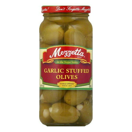 - Mezzetta Garlic Stuffed Olives, 10 OZ (Pack of 6)