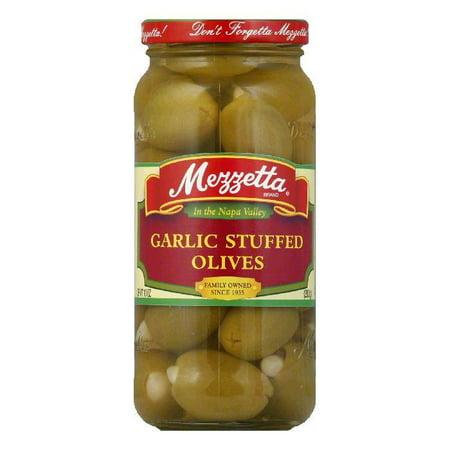 Mezzetta Garlic Stuffed Olives, 10 OZ (Pack of 6)