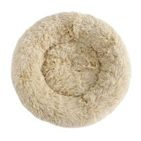 """ZENSTYLE 23"""" Calming Ultra Soft Shag Faux Fur Dog Bed Comfortable Donut Cuddler for Dogs and Cats,Self-Warming and Washable"""