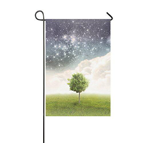 Mypop full moon under the spring fields yard garden flag 28 x 40 inches for Under the garden moon