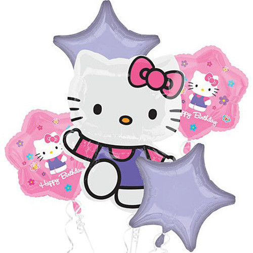 Hello Kitty Character Authentic Licensed Theme Foil Balloon Bouquet