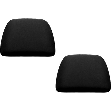 2 Piece Universal Fit (U.A.A. INC. Black 2 Piece Soft Polyester Universal Fit Head Rest Cover Car Truck SUV VAN)