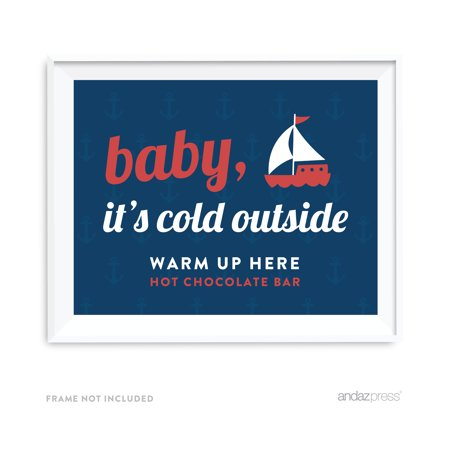 Wholesale Nautical Decor (Baby It's Cold Outside - Hot Chocolate Nautical Ocean Adventure Wedding Party)
