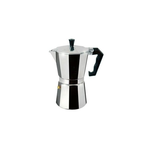 Cuisinox 3 Cup Espresso Stovetop Coffeemaker in Polished Aluminum and Replacement Parts