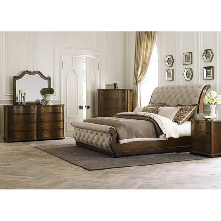 Liberty Furniture Cotswold 5 Piece Upholstered King Sleigh Bedroom Set