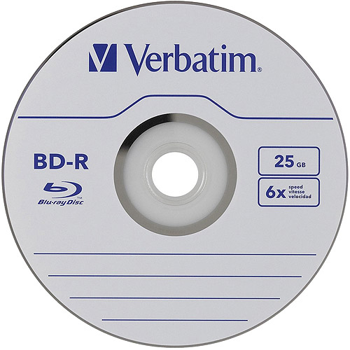 Verbatim 25GB 6x Blu-ray Single Layer Recordable Disc, 25-Disc Spindle