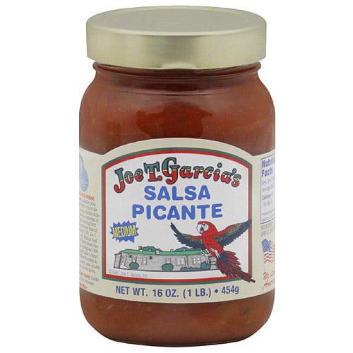 Joe T. Garcia's Medium Salsa Picante, 16 oz, (Pack of 12)