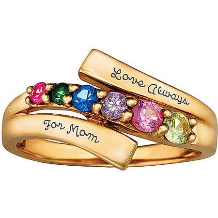 Keepsake personalized lineage mother 39 s birthstone ring for Walmart jewelry mothers rings