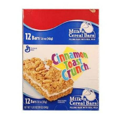 General Mills Cereal Bars - Product Of General Mills, Cinnamon Toast Crunch Cereal Bar, Count 12 (1.6 oz) - Granola/Cereal/Oat/Brkfast Bar / Grab Varieties & Flavors