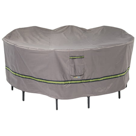 Duck Covers Soteria RainProof Round Patio Table Cover and Chair Cover - Water Resistant Outdoor Furniture Cover, 76