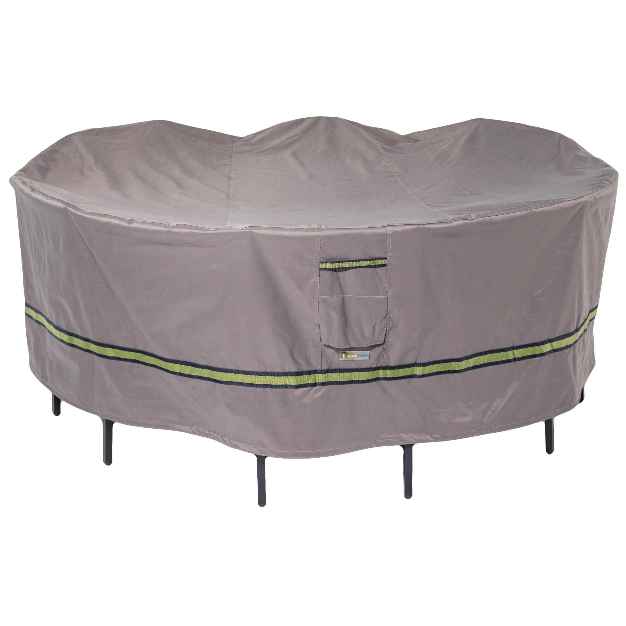 Duck Covers Soteria RainProof 76 in. Round Patio Table with Chairs Cover