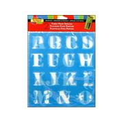 Scribbles Fabric Paint Stencils Letters 1