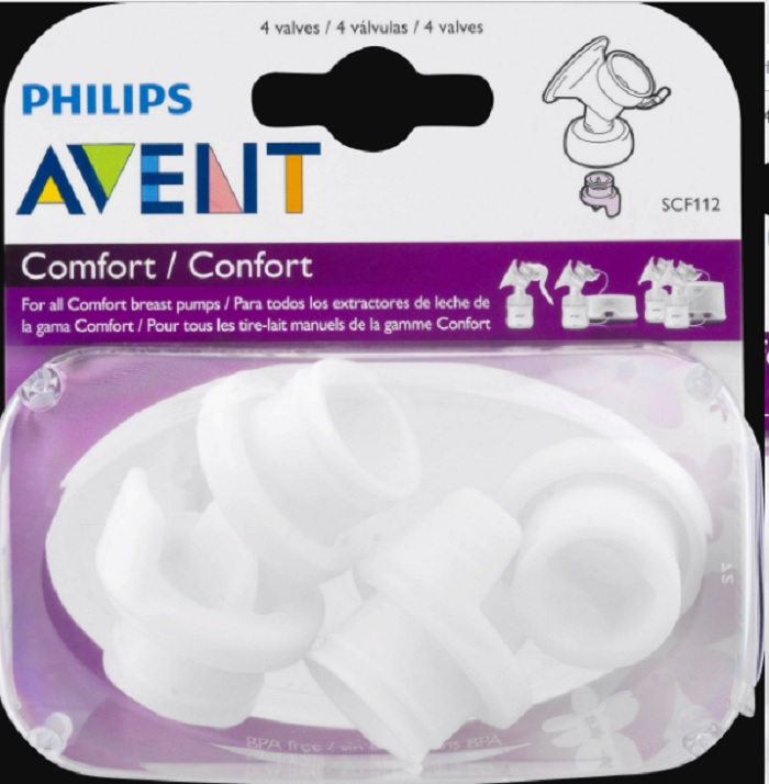 Item is Philips AVENT Comfort Breast Pump Valves include 4 ct in one pack