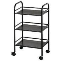 Alvin Storage Cart 3-Shelf Black