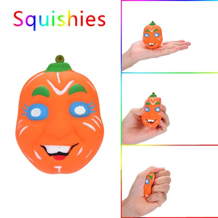 Squishy Circuits Halloween (Smart Novelty Halloween Pumpkin Scented Squishies Slow Rising Kids Toys Stress Relief)