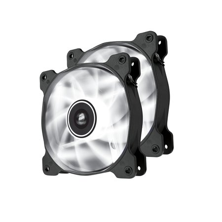 Corsair Air Series AF120 LED Quiet Edition High Airflow Fan Twin Pack - White - (Corsair Air Series Af120 Led Quiet Edition)