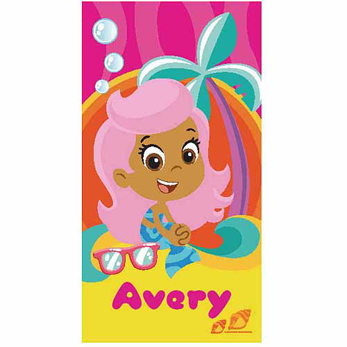 Personalized Bubble Guppies Molly Microfiber Beach Towel