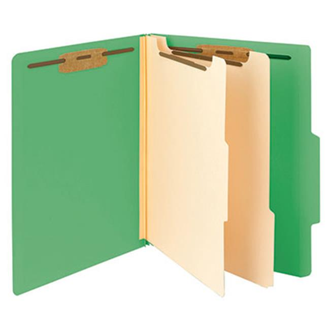 Classification File Folder, 2 Divider - Green, 10 Per Box, Pack Of 5 - image 1 of 1