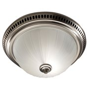 Broan 741 SN Satin Nickel/Frosted Glass Globe Decorative Ceiling Ventilation Fan Light
