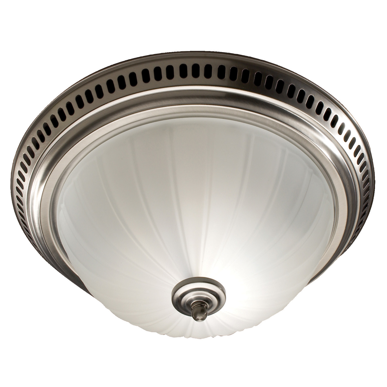 Broan 741 SN Satin Nickel/Frosted Glass Globe Decorative Ceiling Ventilation Fan Light