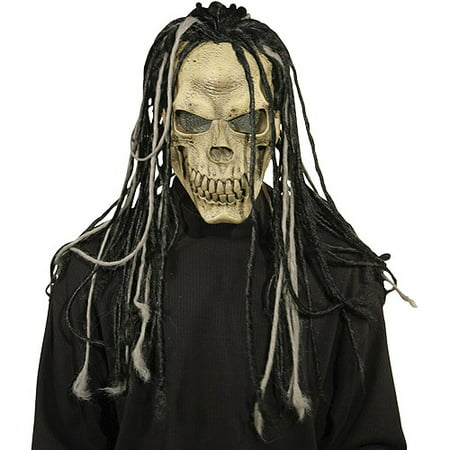 Dead Dread Adult Halloween Mask With Hair - Day Of The Dead Halloween Masks