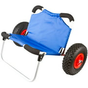 Apex KC-DOLLY-SEAT Hybrid Wide Hull Kayak and Canoe Dolly Cart with Seat