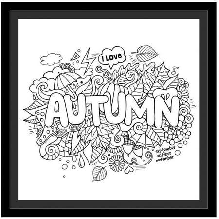 Autumn by Eazl Black Framed Premium Gallery Wrap - Walmart.com