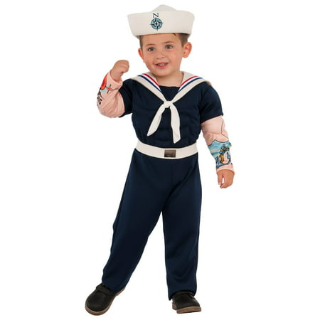 Boys Muscle Man Sailor Costume - Cheap Sailor Halloween Costumes