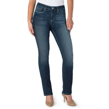 Signature by Levi Strauss & Co. Women's Totally Shaping Straight Jeans