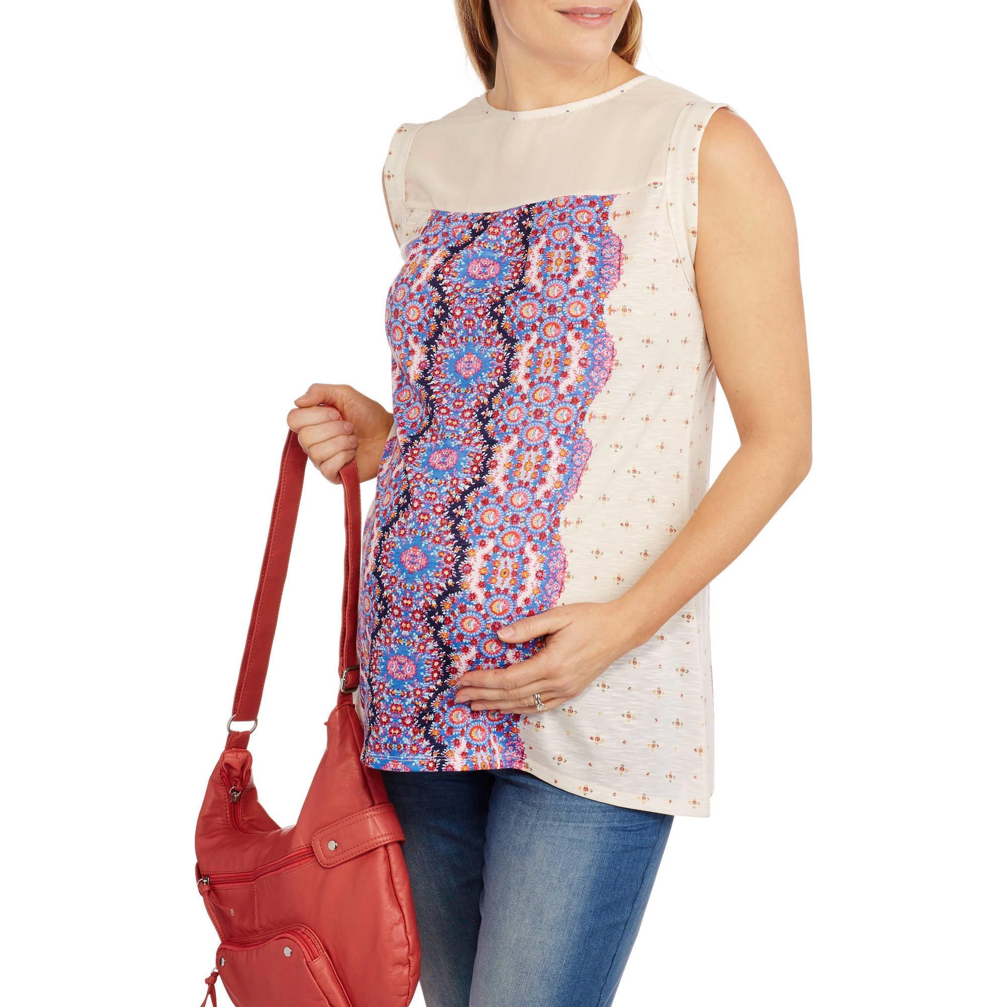 California Happenings Maternity Printed Short Sleeve Tee