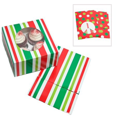 Holiday Cookie / Cupcake Boxes - Bulk Cupcake Boxes