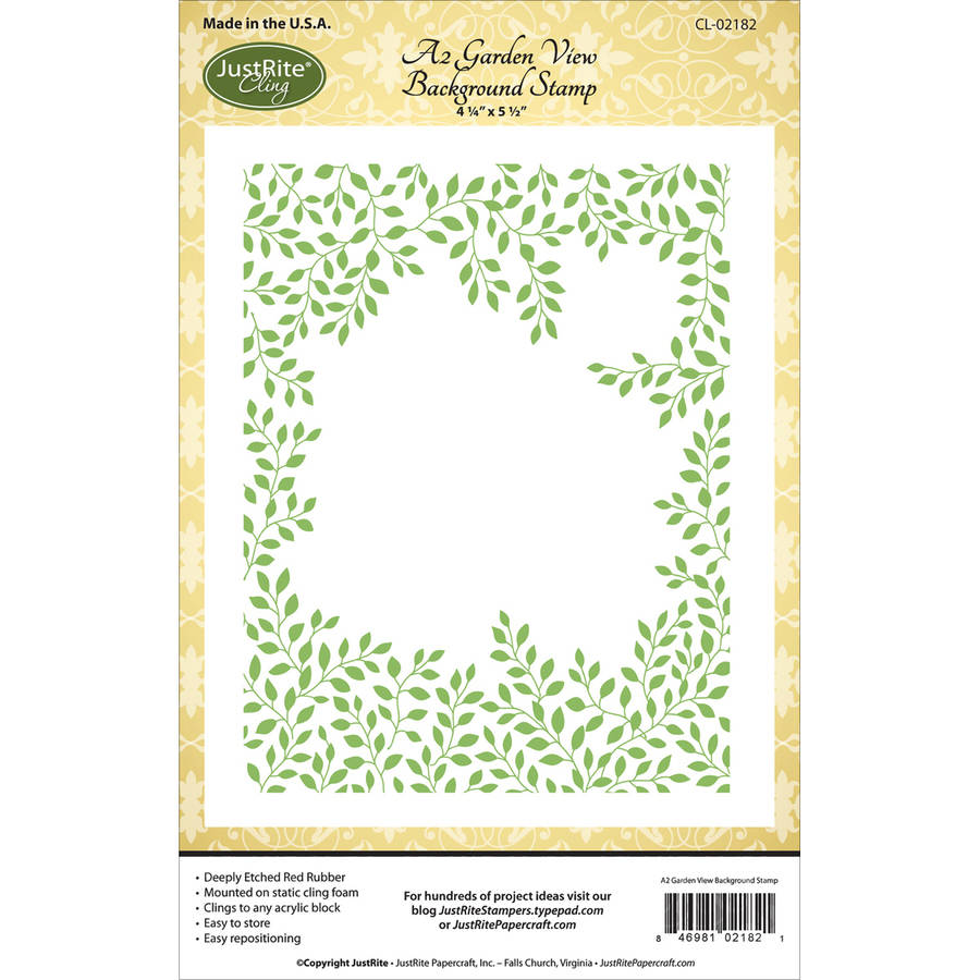 "Justrite Papercraft Cling Background Stamp 4.25""x5.5"" -Garden View"