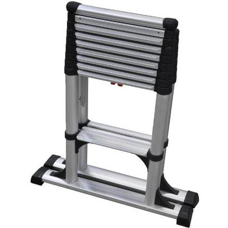 telesteps 14es osha compliant 14 ft reach professional wide step telescoping a frame ladder. Black Bedroom Furniture Sets. Home Design Ideas