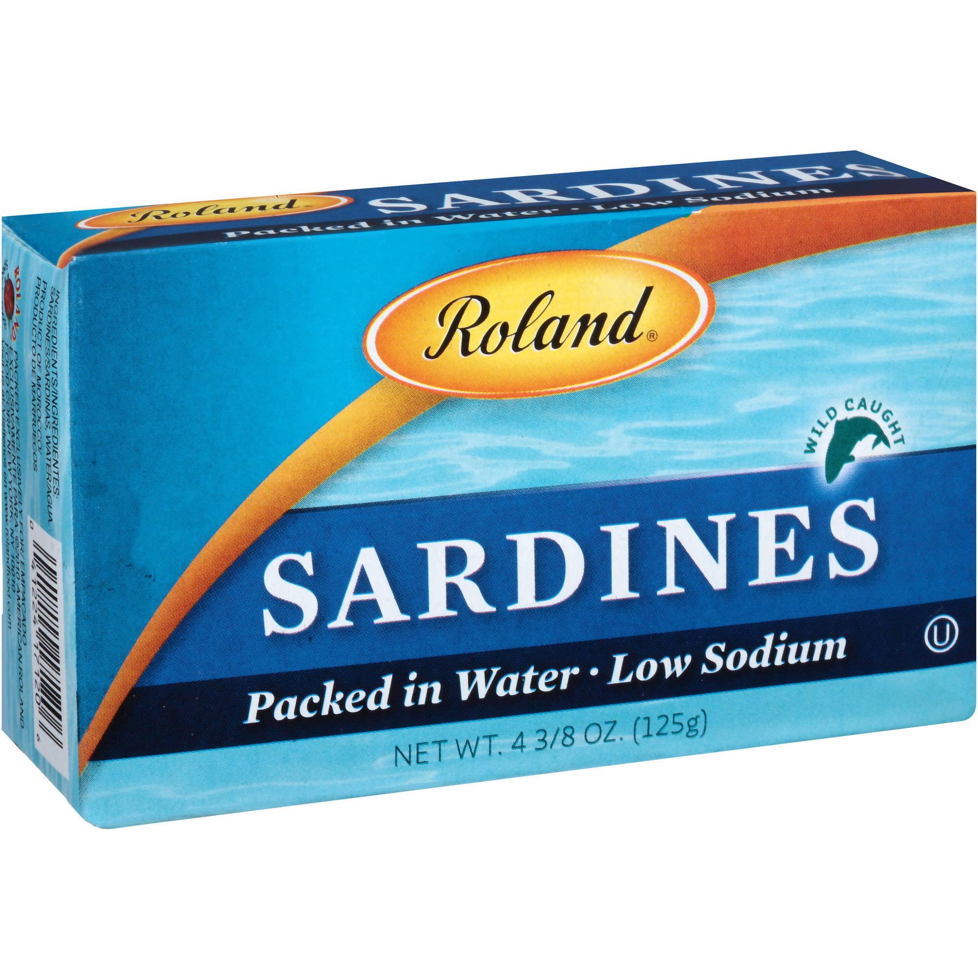 Roland Sardines, 4.375 oz,(Pack of 10)