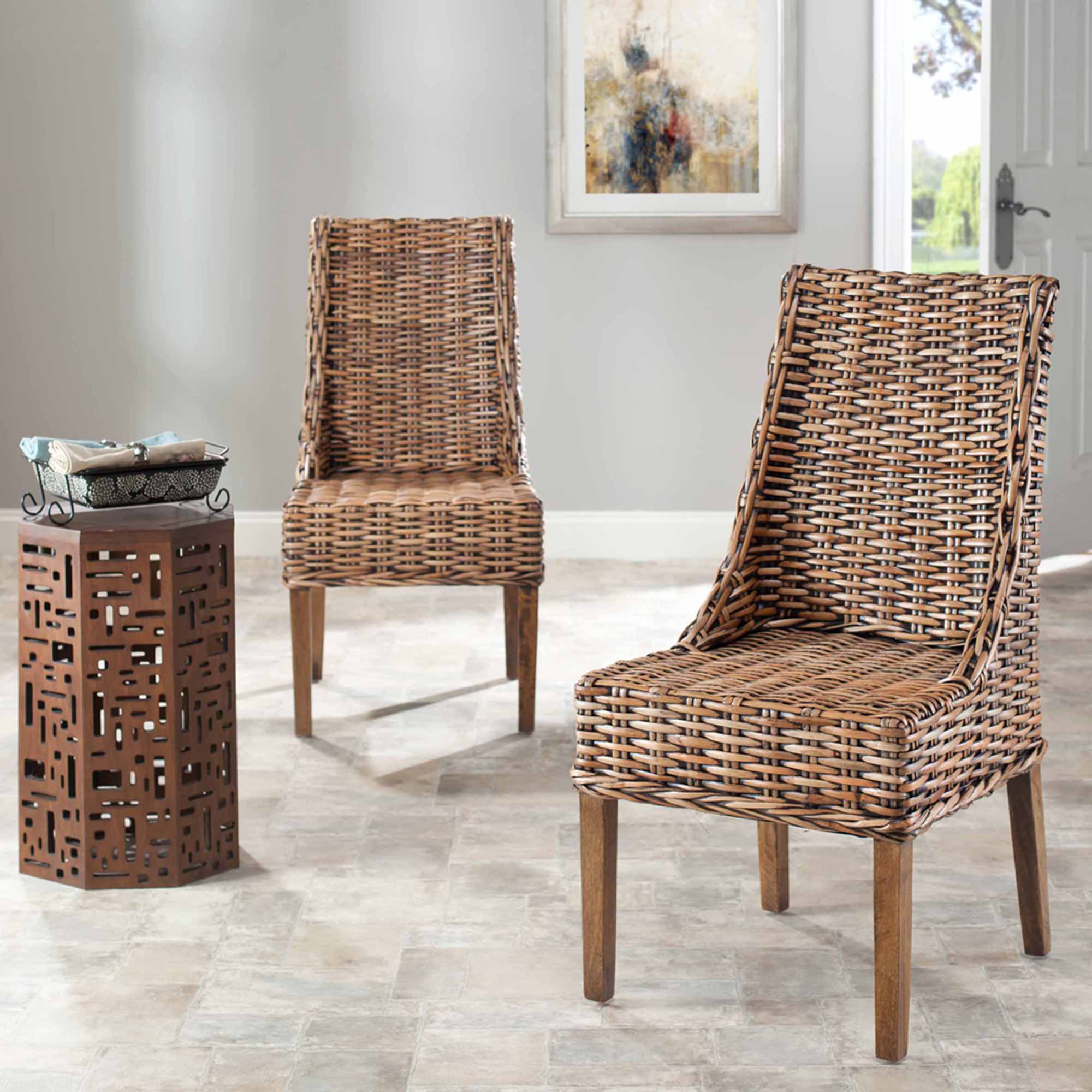 Safavieh Brown Sun Coast Arm Chair, Set Of 2