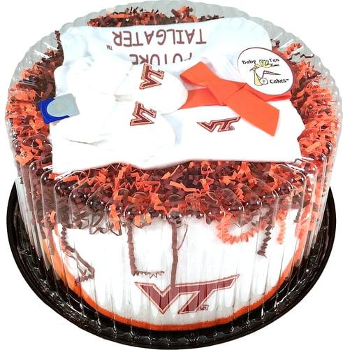Virginia Tech Hokie Baby Fan Cake Clothing Gift Set by