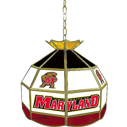Trademark Global Maryland University Stained Glass Tiffany Lamp - 16""