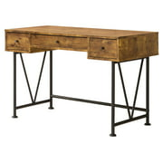 Coaster Company Home Furniture Analiese 3 Drawer Home Office Study Desk, Antique Nutmeg