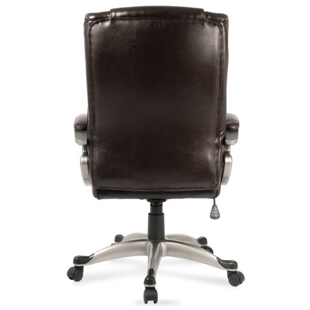Belleze High-Back Executive Office Chair Padded Faux Leather Tilt Swivel Computer - Mocha