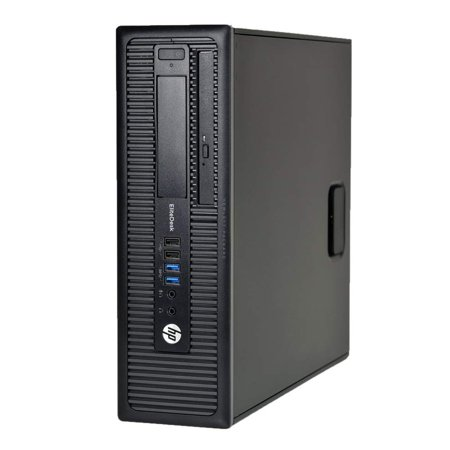 HP ELITEDESK 800 G1 SFF Slim Business Desktop Computer, Intel I54570 3.20 GHz, 8GB RAM, 500GB HDD, DVD, USB 3.0, Windows 10 Pro 64 Bit - Certified Refurbished