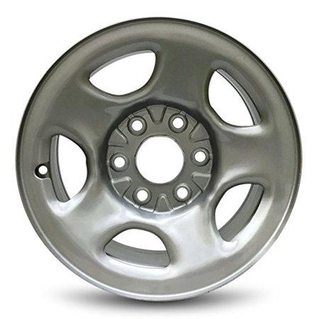 """Road Ready Replacement 16"""" Silver Steel Wheel Rim 02-07 Sierra 1500 02-07 Silverado 1500 01-06 Tahoe 01-07 Suburban 1500 01-07 Sierra 1500 01-07"""