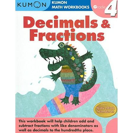 Decimals & Fractions, Grade 4 (Course 1 Chapter 2 Fractions Decimals And Percents)