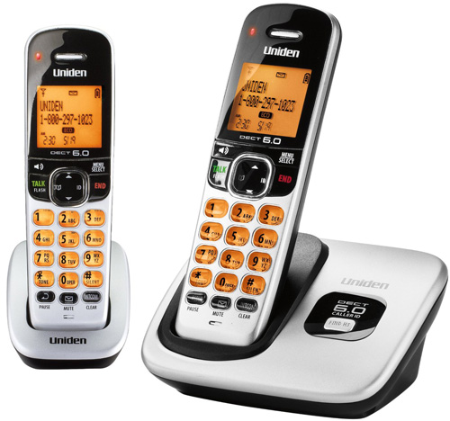 Refurbished Uniden D1760-2 DECT 6.0 Cordless Phone w/ 1 Extra Handset