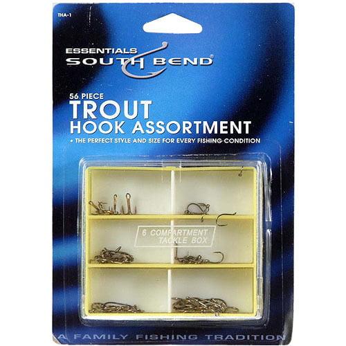 South Bend 56-Piece Trout Hook Assortment