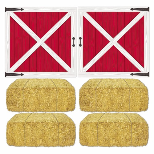 Barn Loft Door and Hay Bale Props