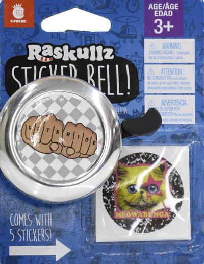 Lt Purple//Pink Girls Details about  /C-Preme Raskullz Bike Bell w//Mounting Hardware NEW