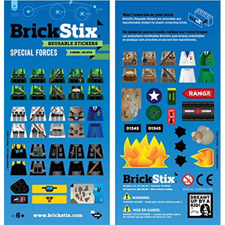 Mod Basic Stickers (SPECIAL FORCES MOD STIX - Reusable Stickers for your Bricks )