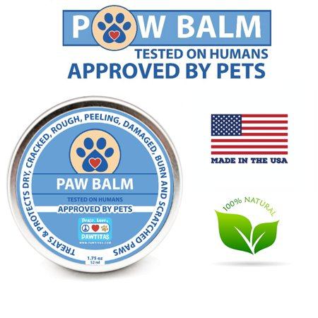 Pawtitas Paw Balm for Dogs Manufactured with Certified Organic Herbs Moisturizer for Cracked Burn Pads, Paw (Best Dog Pad Moisturizer)